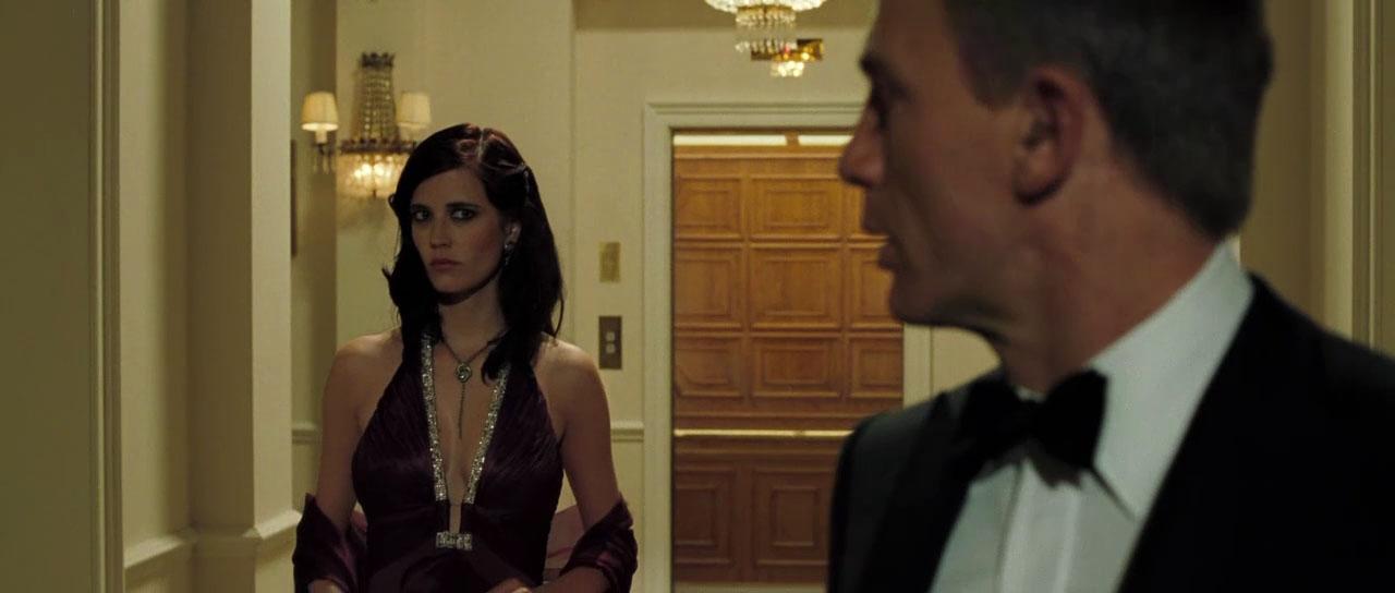 Eva Green Casino Royale Purple Dress The stunning gown was