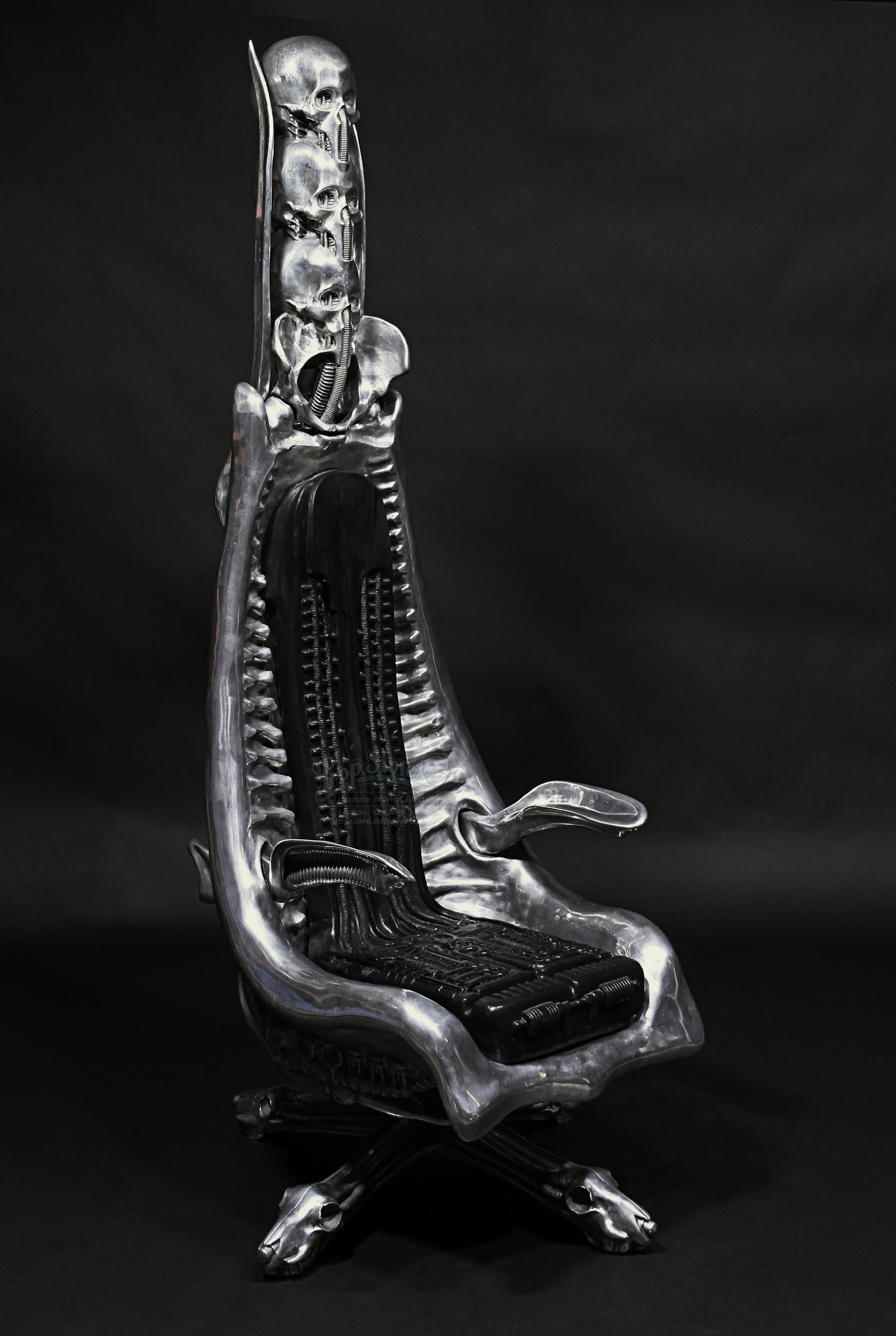 hr giger gigerowned aluminium harkonnen quotcapoquot chair