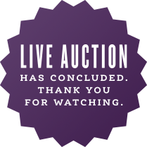 LIVE AUCTION has concluded. Thank you for watching.