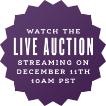 Watch the LIVE AUCTION streaming on December 11th, 10 AM PST