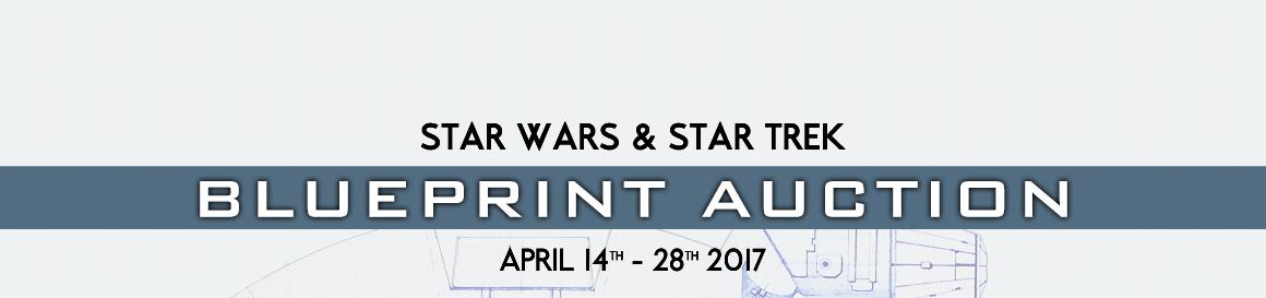 Star wars star trek blueprint auction malvernweather Gallery