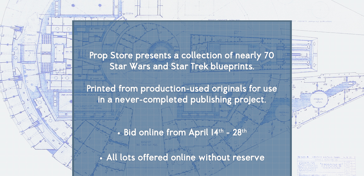 Star wars star trek blueprint auction shipping info malvernweather Image collections