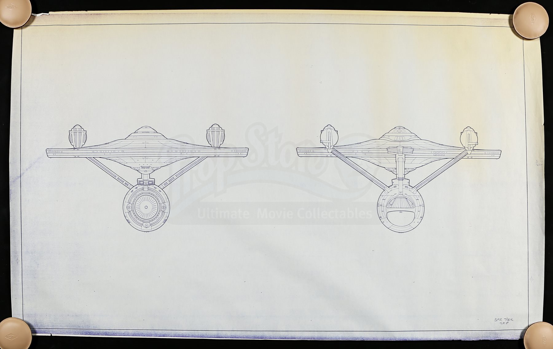 Star trek the motion picture uss enterprise ncc 1701 bow and lot 1 malvernweather Image collections
