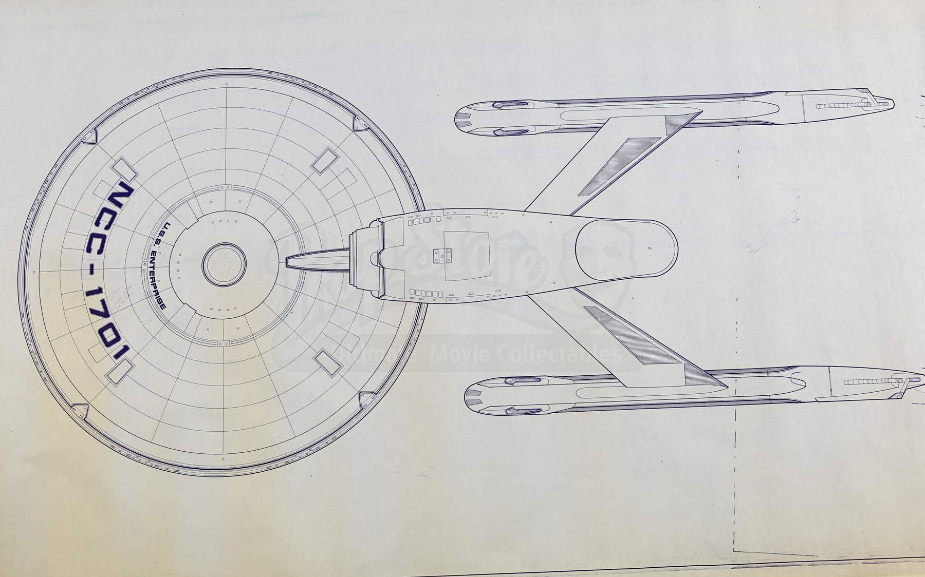 Star trek the motion picture uss enterprise ncc 1701 for Blueprint cost