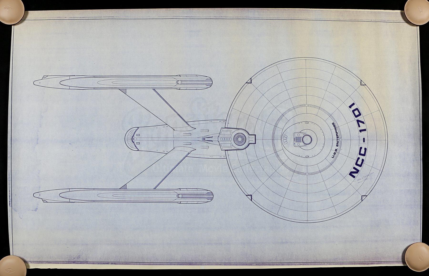 Star trek the motion picture uss enterprise ncc 1701 top for Blueprint cost