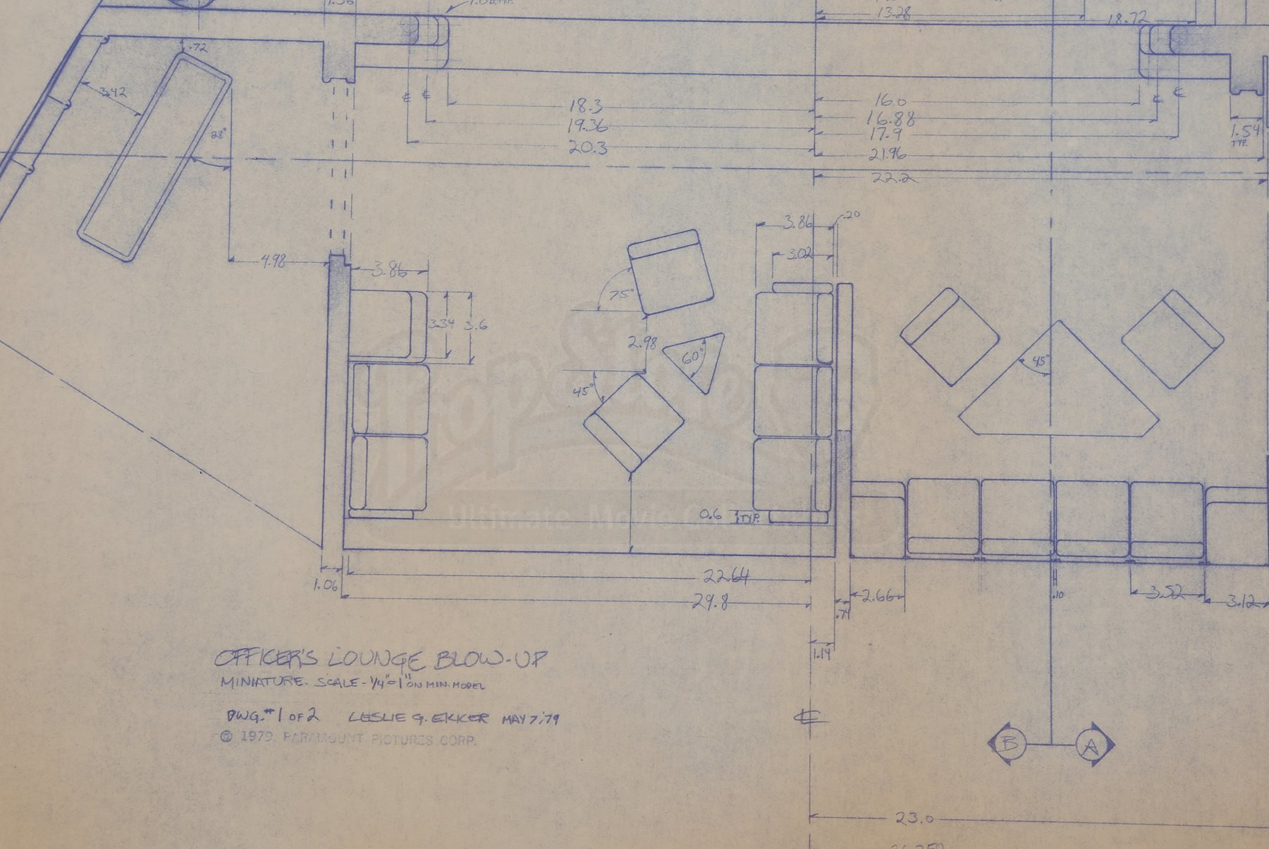 Star trek the motion picture officer 39 s lounge blueprint for Blueprint cost