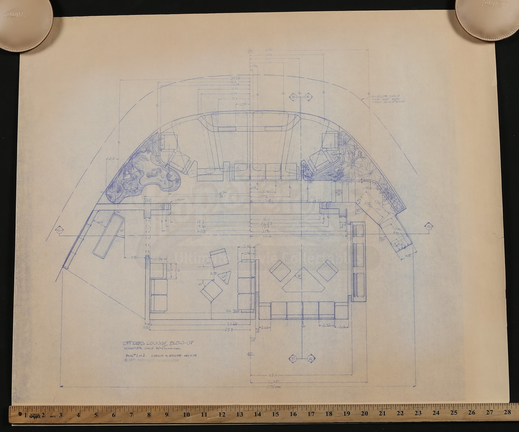 Star trek the motion picture officers lounge blueprint lot 8 malvernweather Image collections