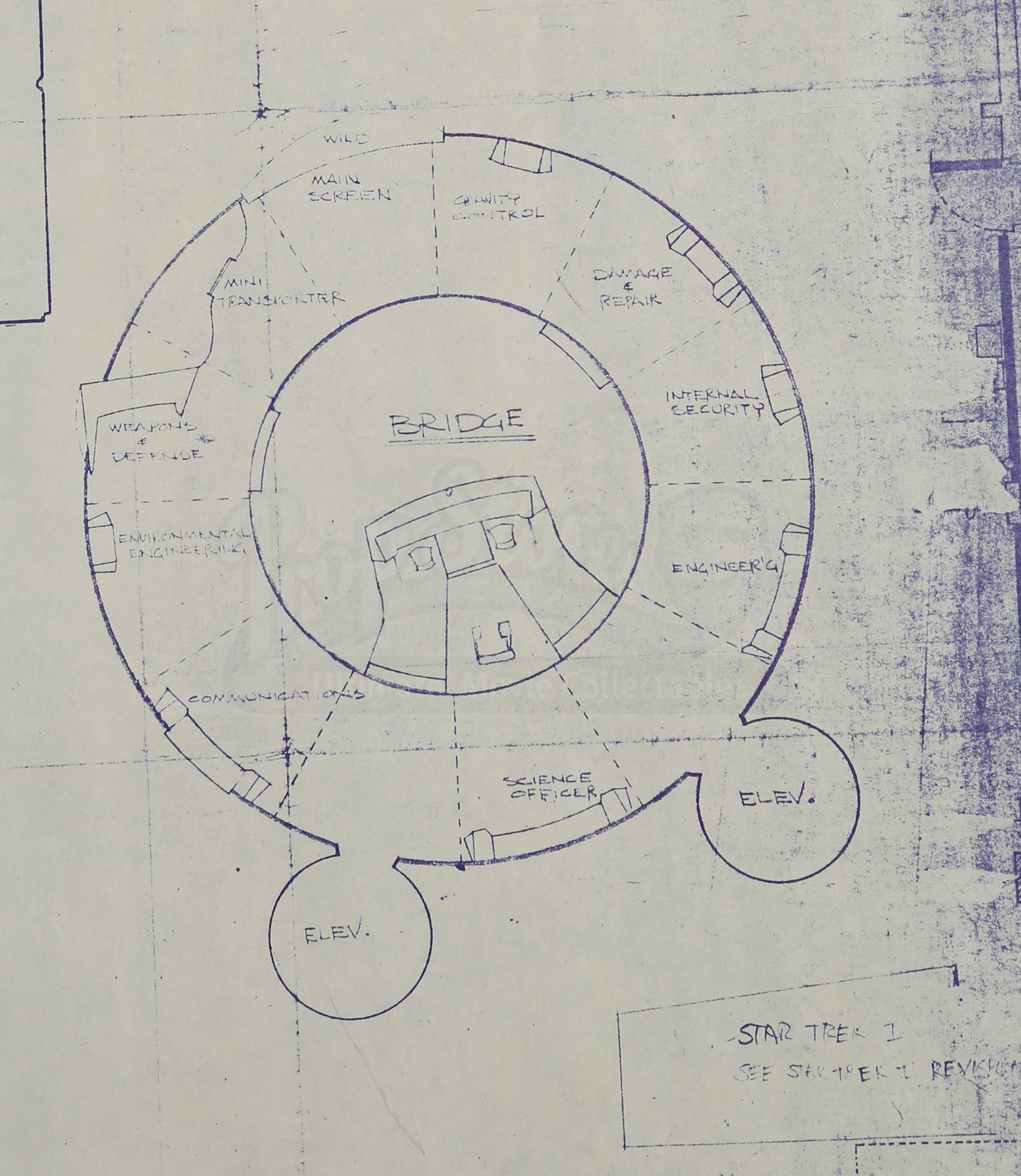 Star trek the motion picture uss enterprise ncc 1701 set for Blueprint cost