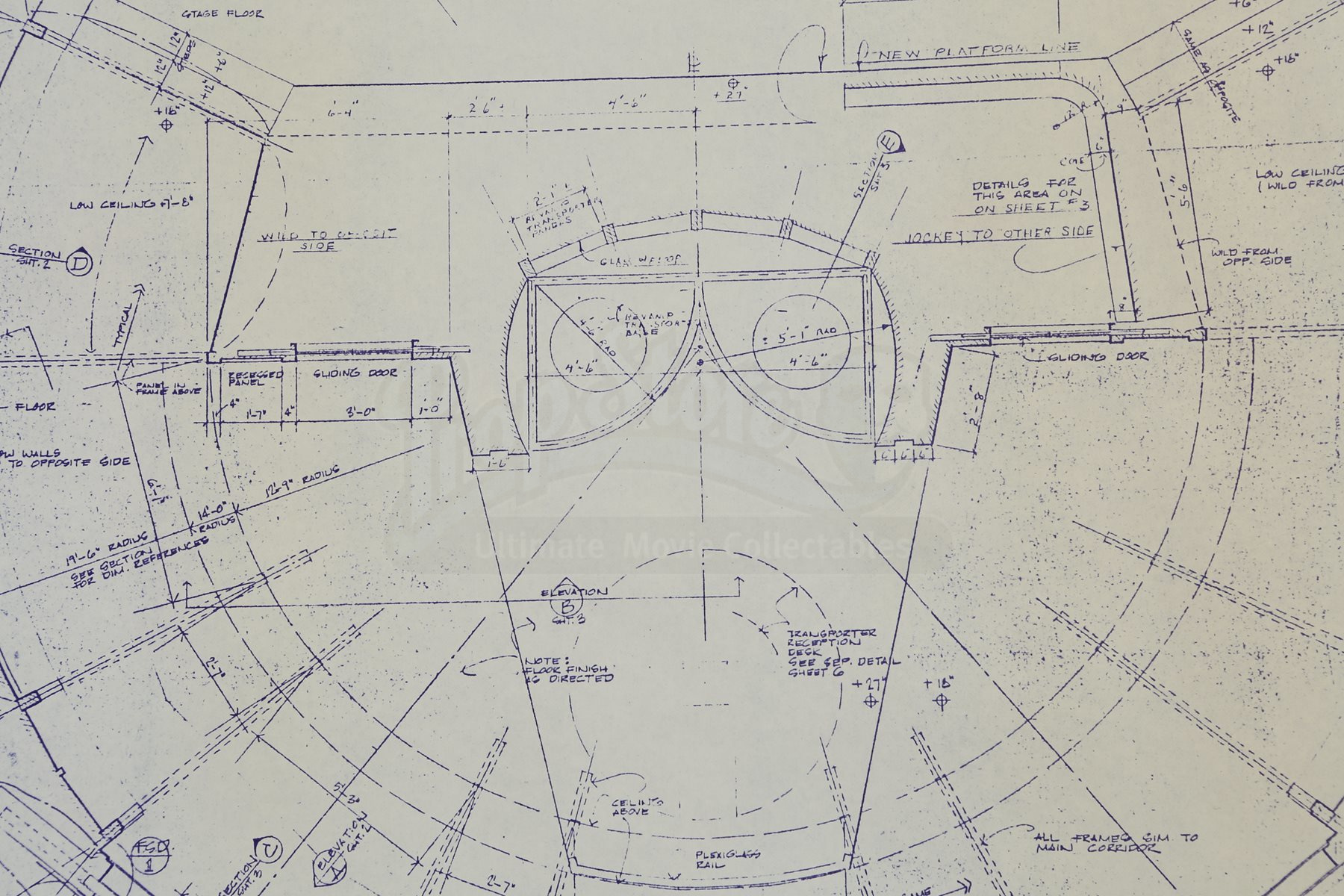 Star trek the motion picture office complex and taxi pod for Blueprint cost