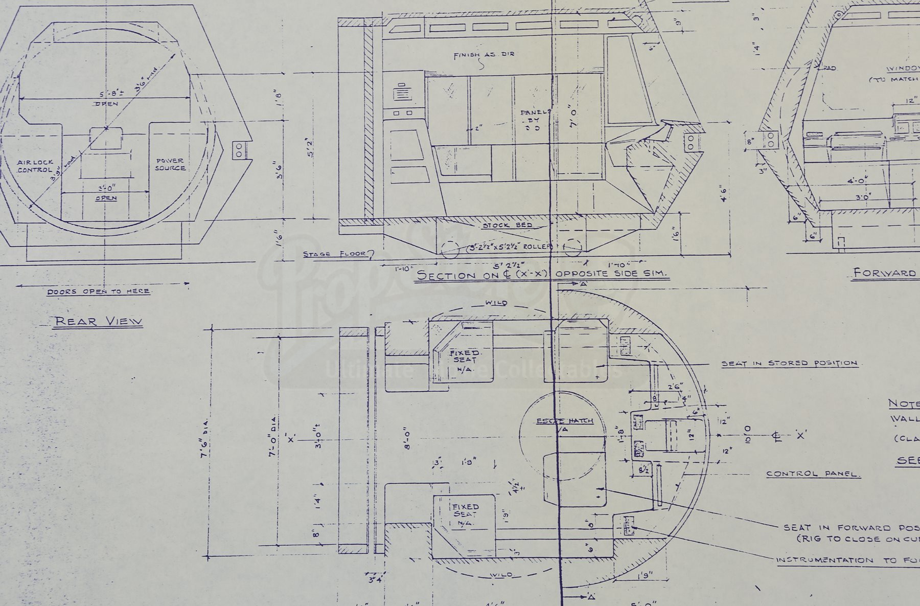 Star trek the motion picture interior and exterior front for Blueprint cost