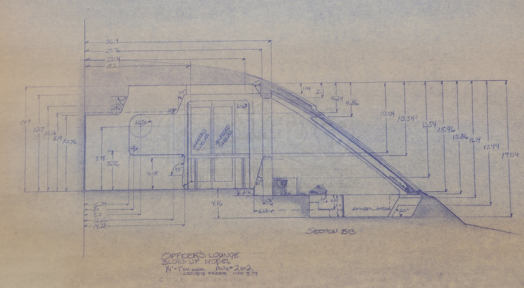 Star trek the motion picture officers lounge blueprint current lot 10 malvernweather Images