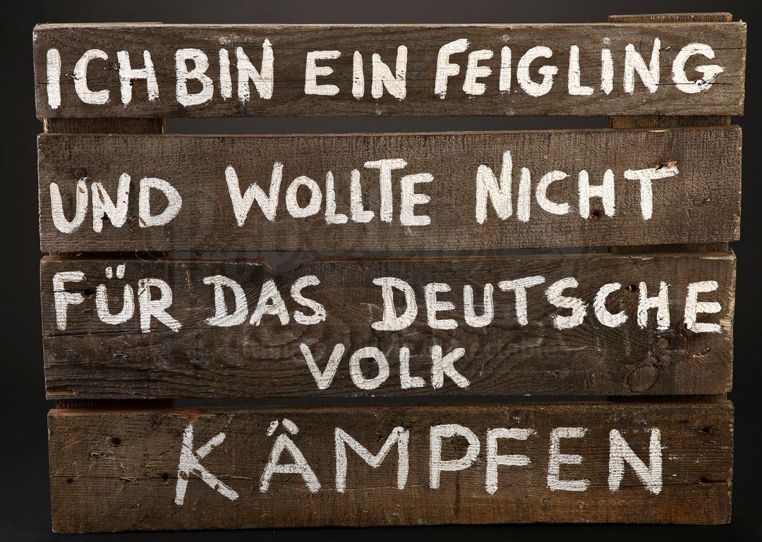 German Execution Shame Sign - Current price: $230