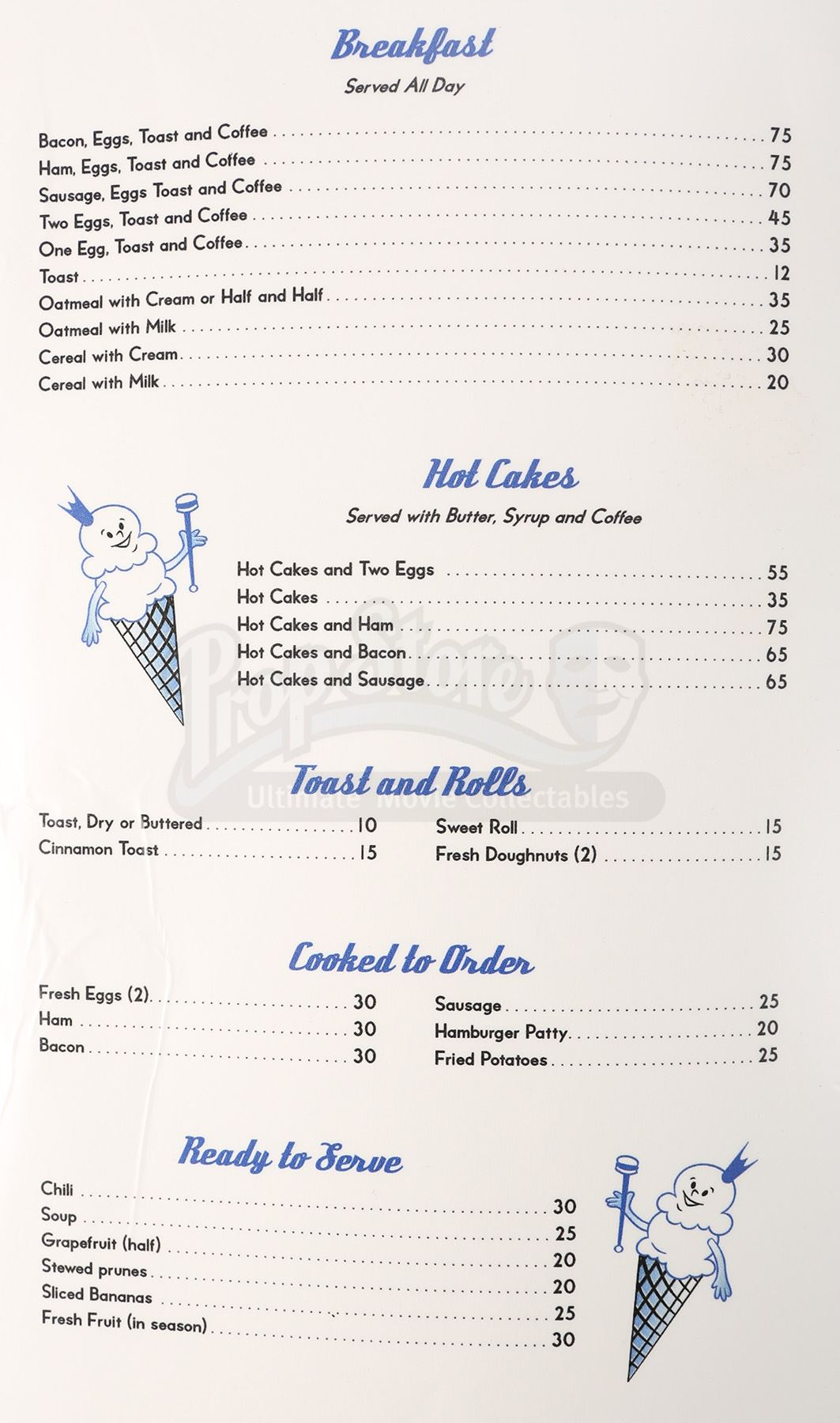 Frosty palace menu current price 60 lot 46 xflitez Image collections