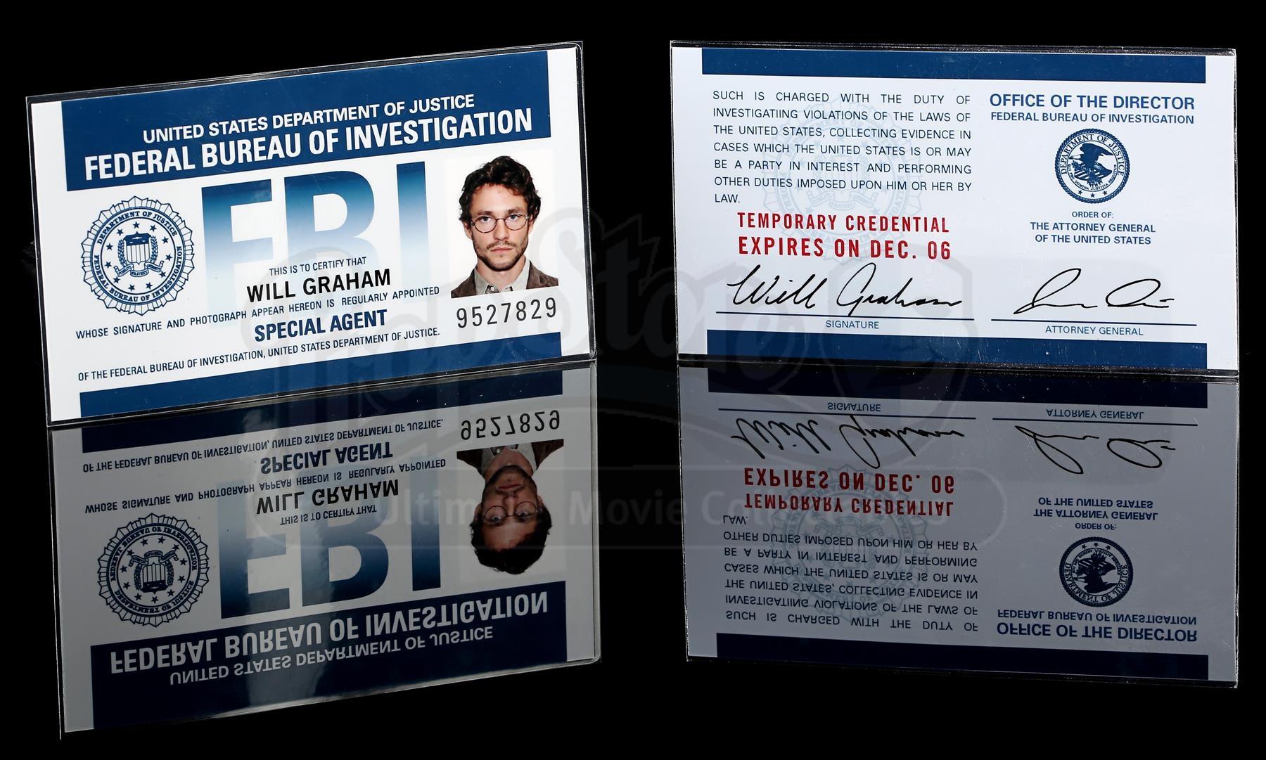 HANNIBAL Will Graham S Hugh Dancy FBI ID Card Current Price $1100