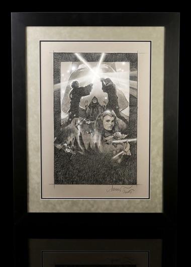 Star Wars Revenge Of The Sith 2005 Framed Drew Struzan Hand Drawn Poster Comp Artwork Current Price 7500