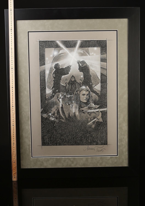 STAR WARS: REVENGE OF THE SITH (2005) - Framed Drew Struzan Hand-Drawn ...
