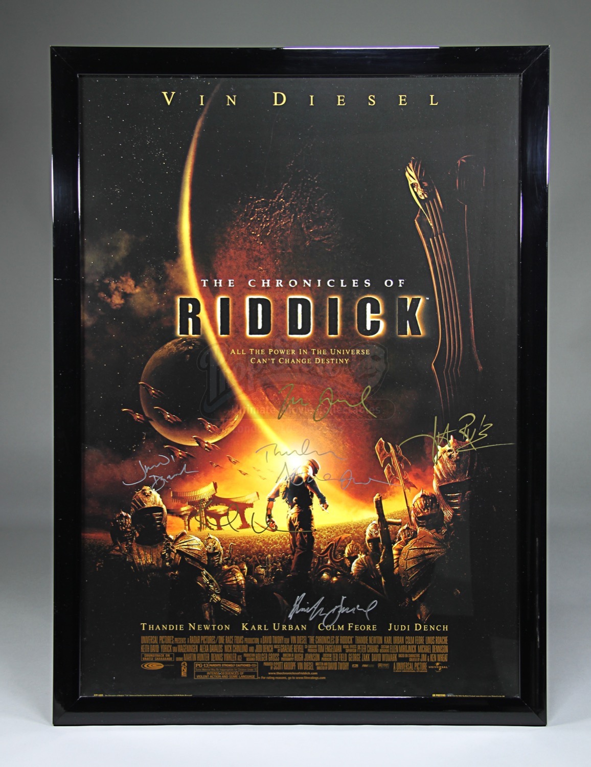 THE CHRONICLES OF RIDDICK (2004) - Autographed Film Poster ...