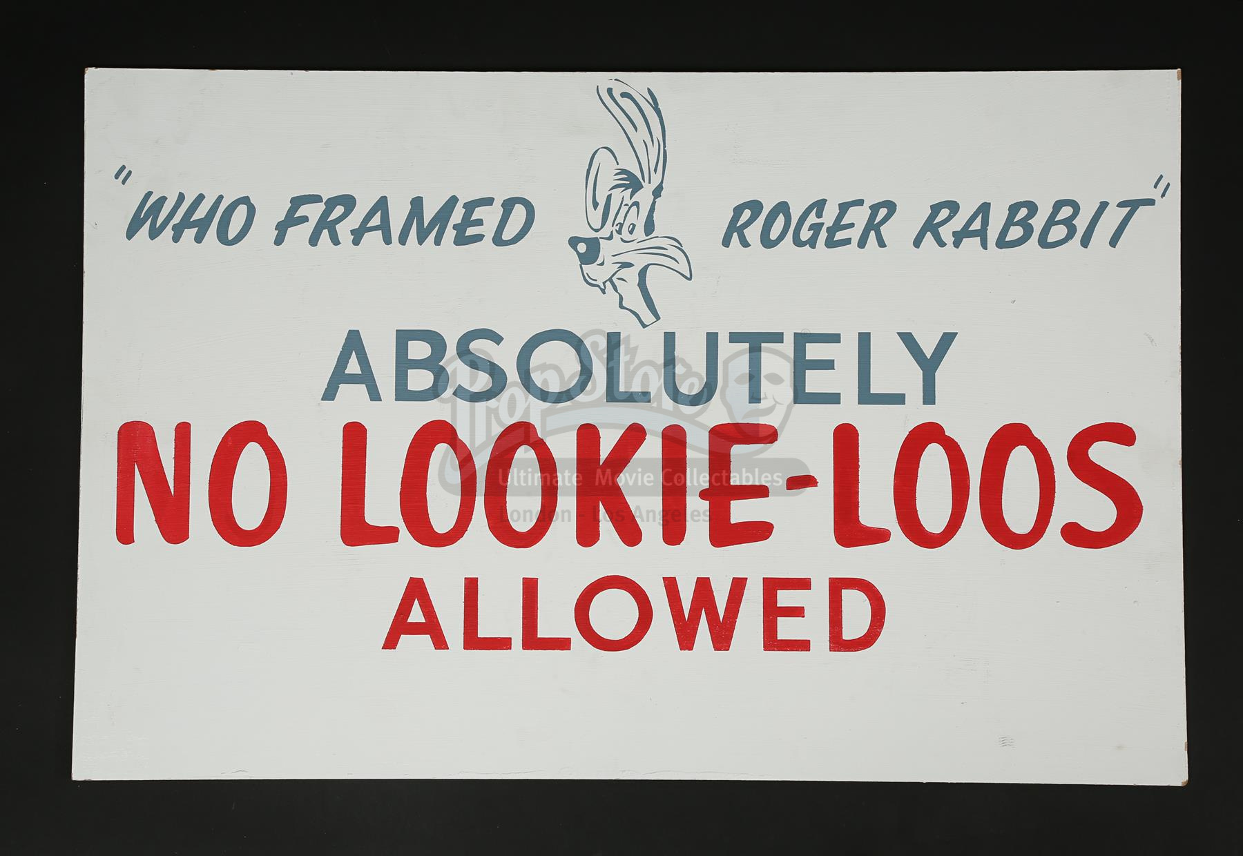 WHO FRAMED ROGER RABBIT (1988) - Set Access Sign and Character Scale ...