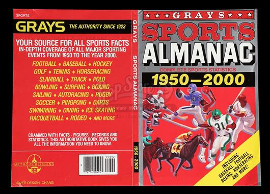 Lot 34 M Grays Sports Almanac Cover Back To The Future