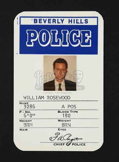 Beverly Hills Cop Ii 1987 Detective William Rosewood S Judge Reinhold Id Current Price 500