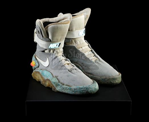 3dc11e203e Lot #: 37 Ω. Marty McFly's (Michael J. Fox) Light-Up 2015 Nike Shoes BACK  TO THE FUTURE ...