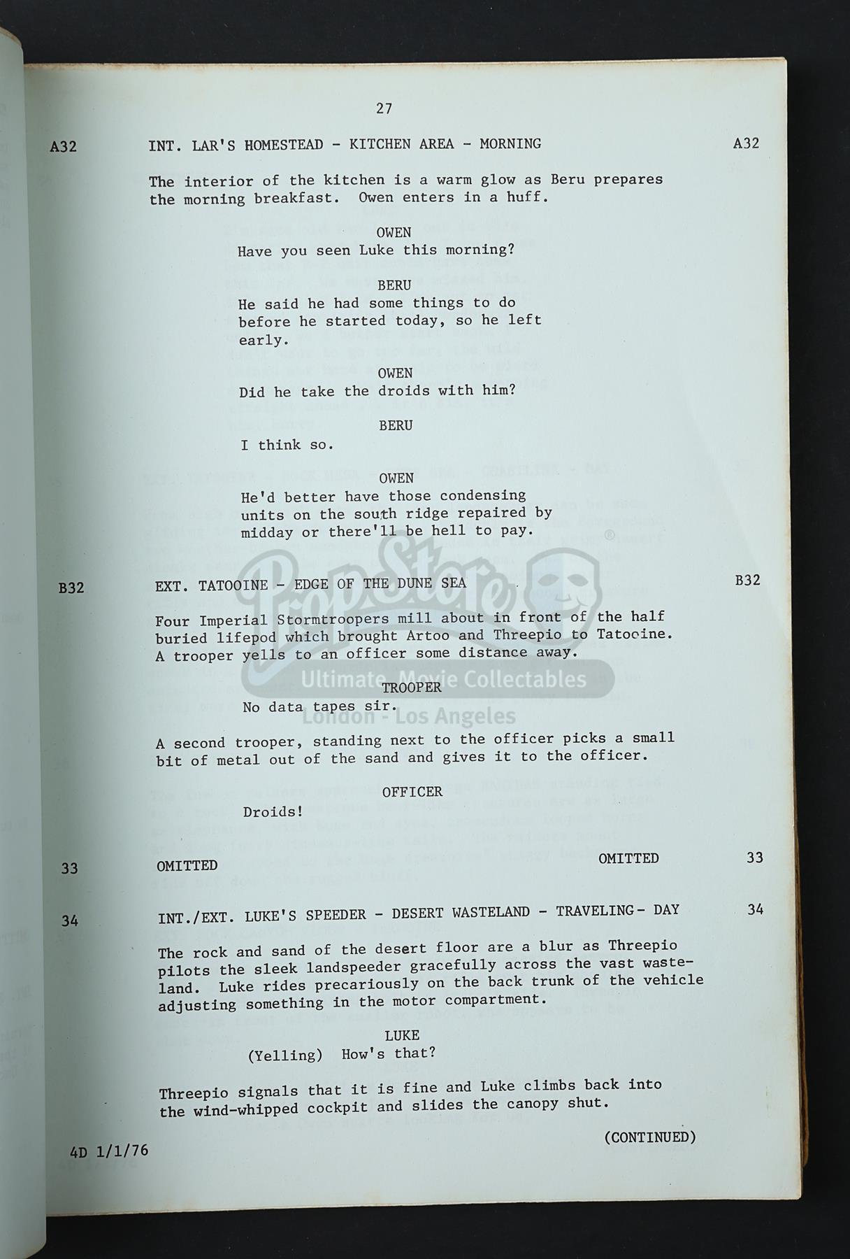 star wars a new hope script pdf