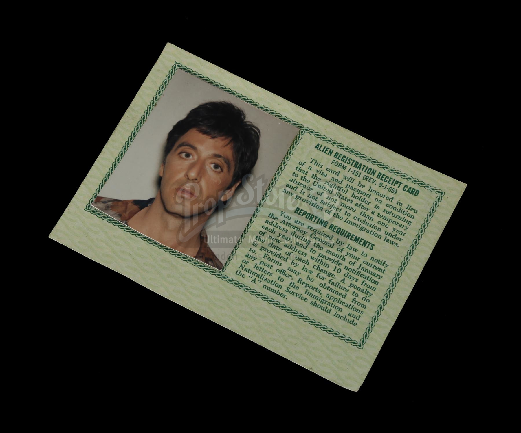 SCARFACE Tony Montanas Al Pacino Green Card Current