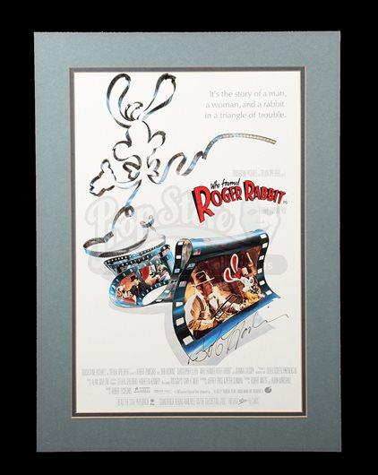 WHO FRAMED ROGER RABBIT (1988) - Bob Hoskins-Autographed Poster and ...