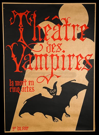 Interview With The Vampire The Vampire Chronicles 1994 Theatre Des Vampires Prop Poster Current Price 1400