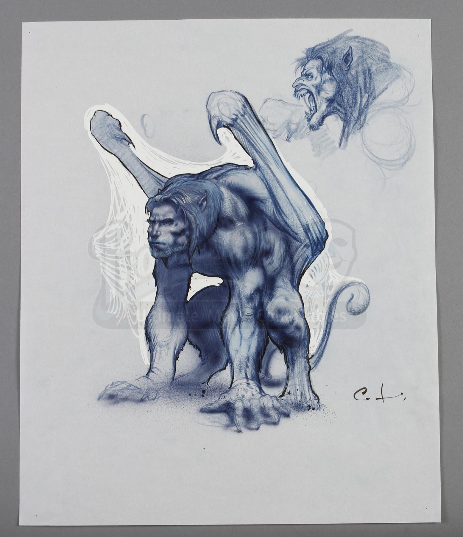 Character Design Price : Gargoyles hand drawn set of character design