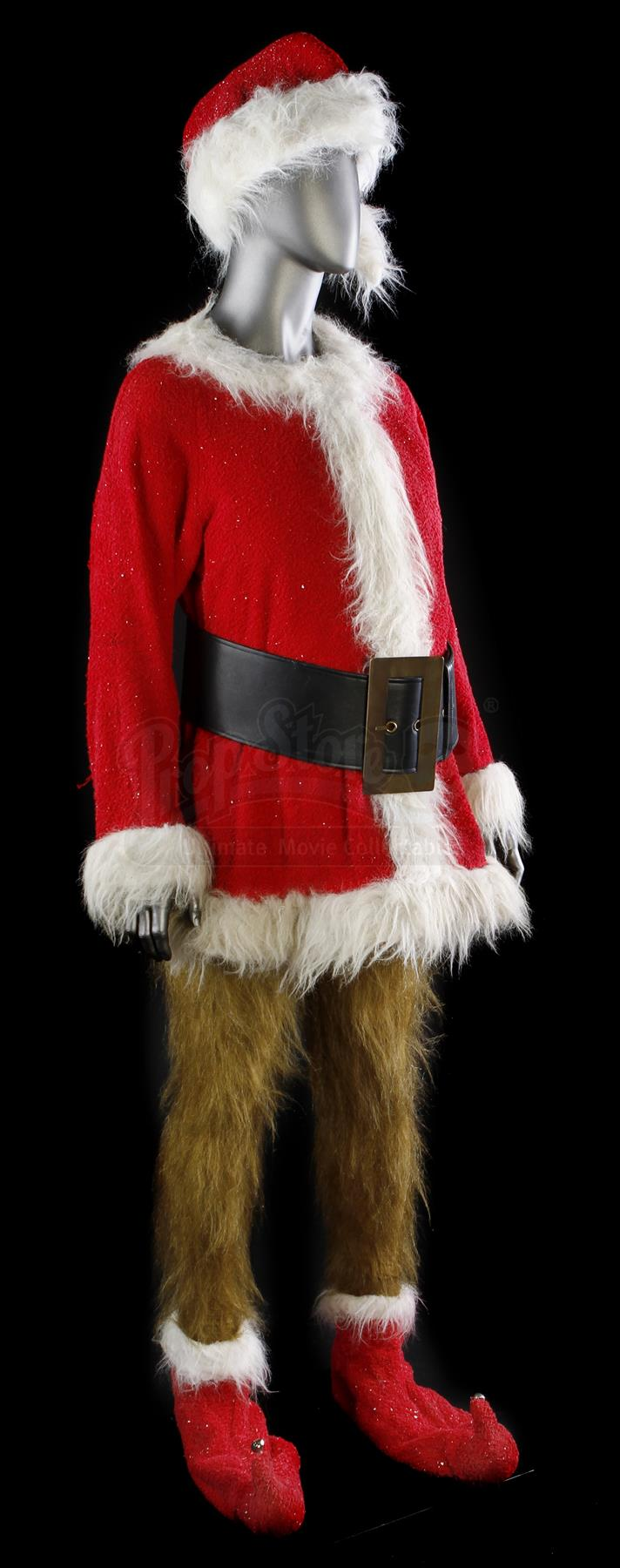 Lot # 265. Grinch Stunt Santa Costume ... & HOW THE GRINCH STOLE CHRISTMAS (2000) - Grinch Stunt Santa Costume ...