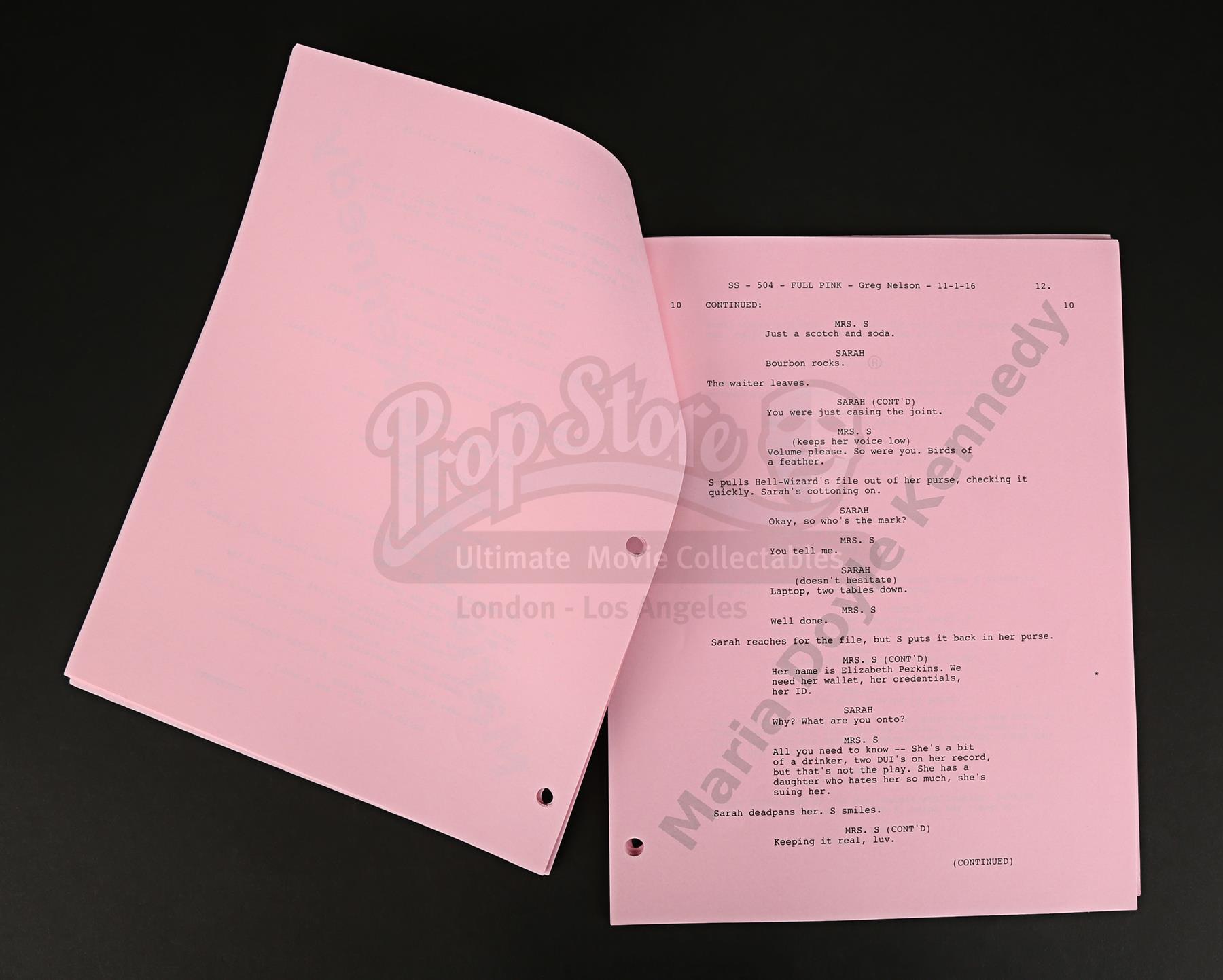 Maria Doyle Kennedy S Cast Autographed Production Script Episode
