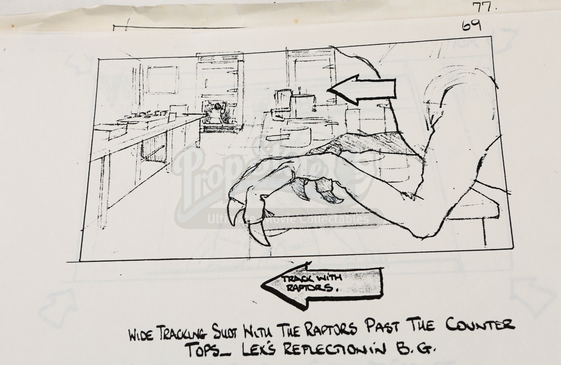 Kitchen Collectables Store Jurassic Park Hand Drawn Acetate Cels And Printed