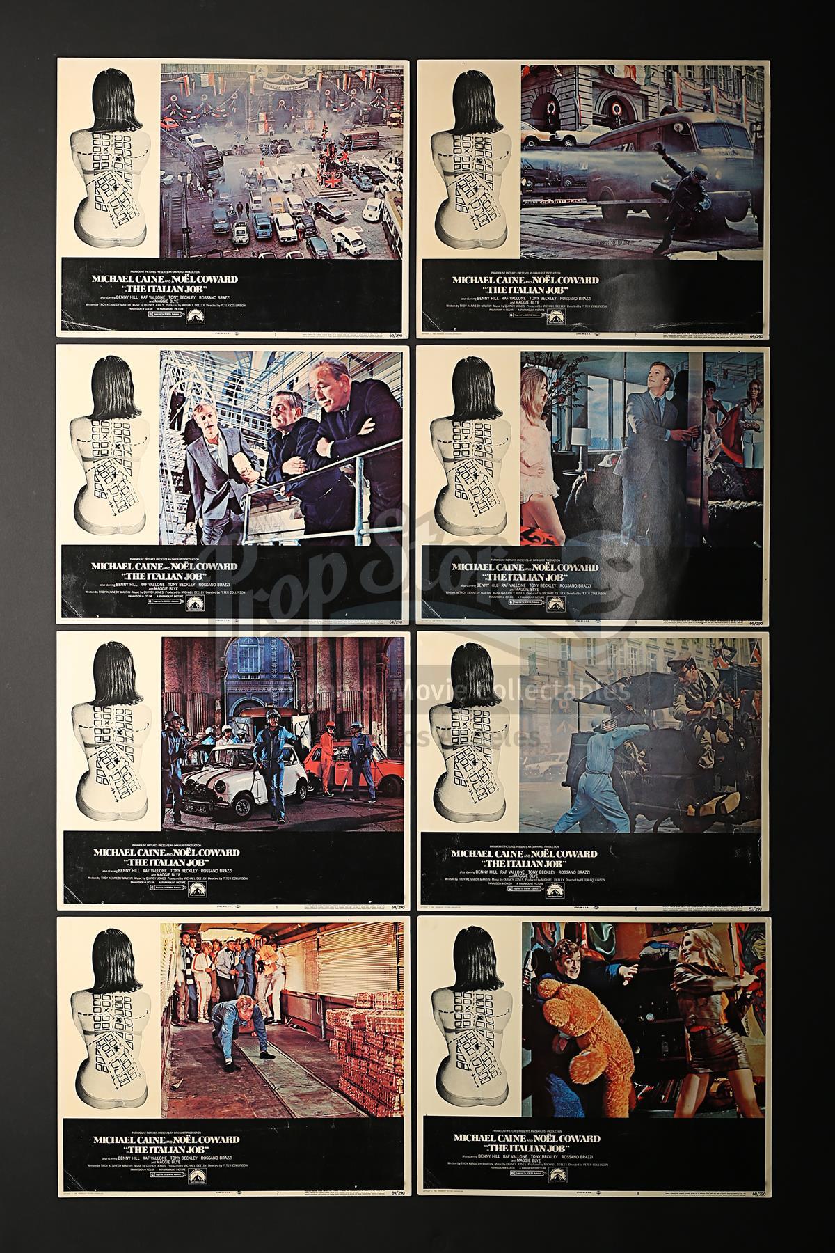 THE ITALIAN JOB (1969) - Set of Eight US Lobby Cards (1969