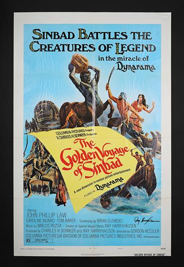 THE GOLDEN VOYAGE OF SINBAD (1973) - Autographed US One