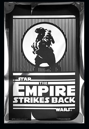 Star Wars Episode V The Empire Strikes Back 1980 Us One Sheet Silver Mylar 10th Anniversary Style B Poster Current Price 250