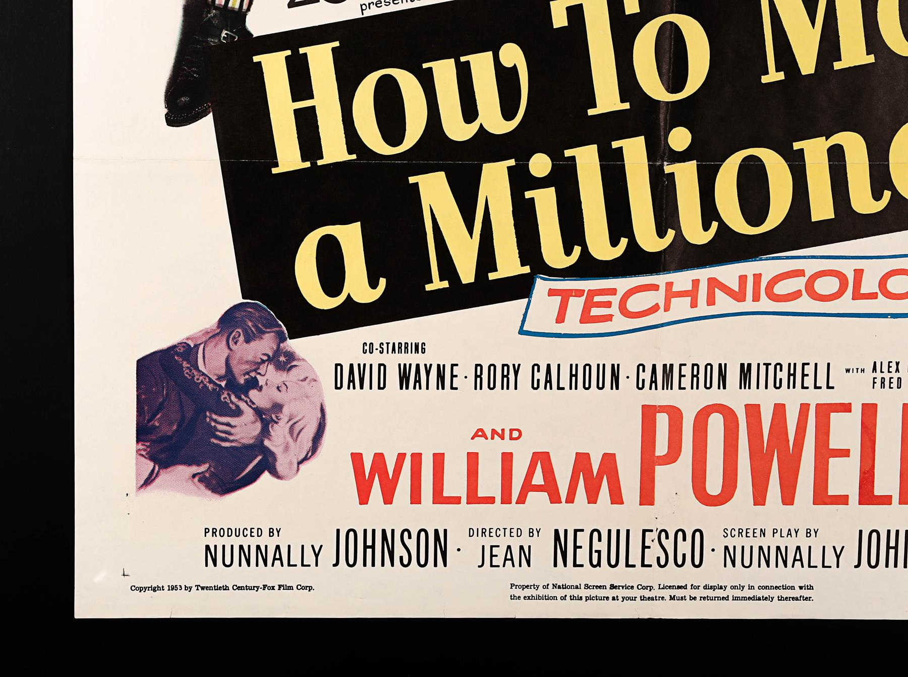 MARILYN MONROE: HOW TO MARRY A MILLIONAIRE (1953) - US One