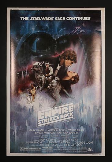 Star Wars Episode V The Empire Strikes Back 1980 Us 40x60 Style A Gone With The Wind Poster Current Price 500