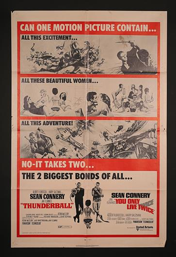 JAMES BOND: THUNDERBALL / YOU ONLY LIVE TWICE (1965 AND 1967) - US
