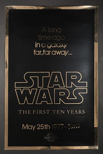 Star Wars Episode Iv A New Hope 1977 Us One Sheet Gold Anniversary Poster Current Price 300