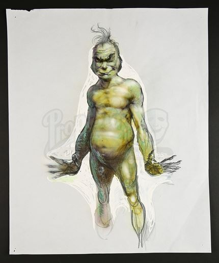 Lot 484 Carlos Huante Hand Painted Grinch Concept