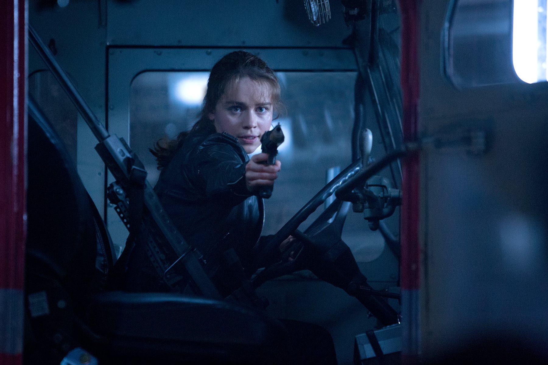 Terminator Genisys: Sarah Connor's (Emilia Clarke) Acid ...