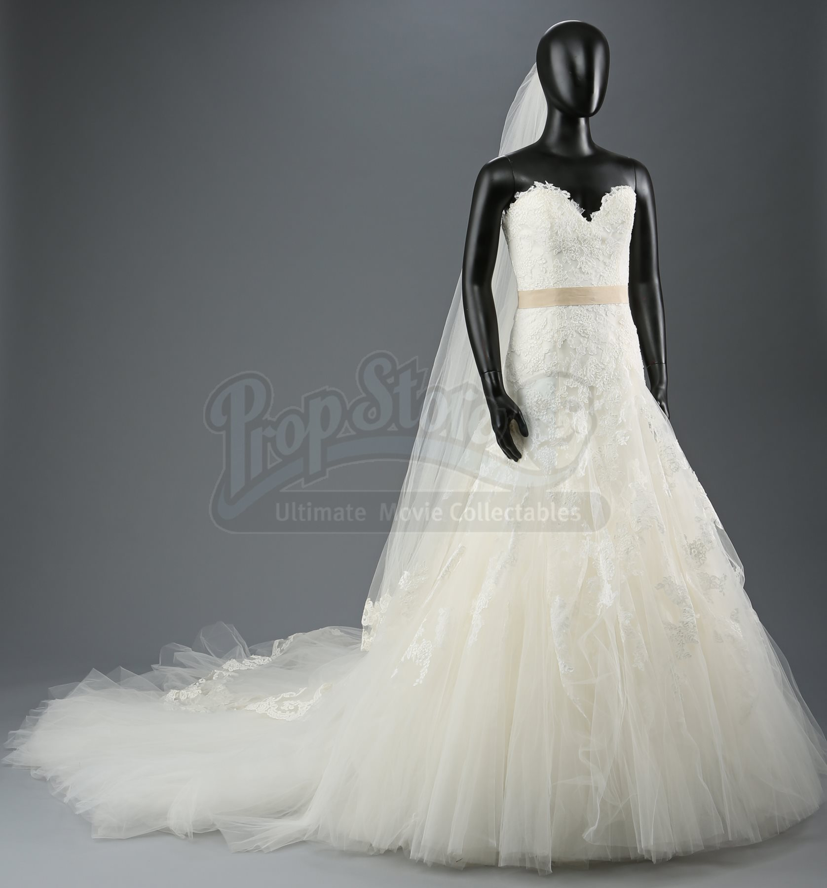 Bella swans nightmare wedding dress and veil current price 1400 prop store ultimate movie collectables london los angeles junglespirit Images