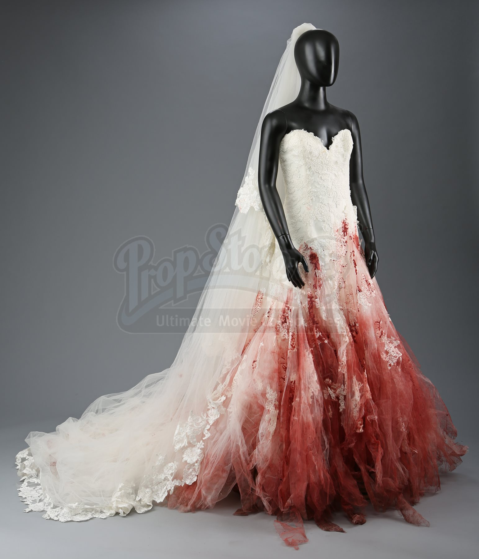 Bella Swan\'s Bloodstained Nightmare Wedding Dress and Veil ...