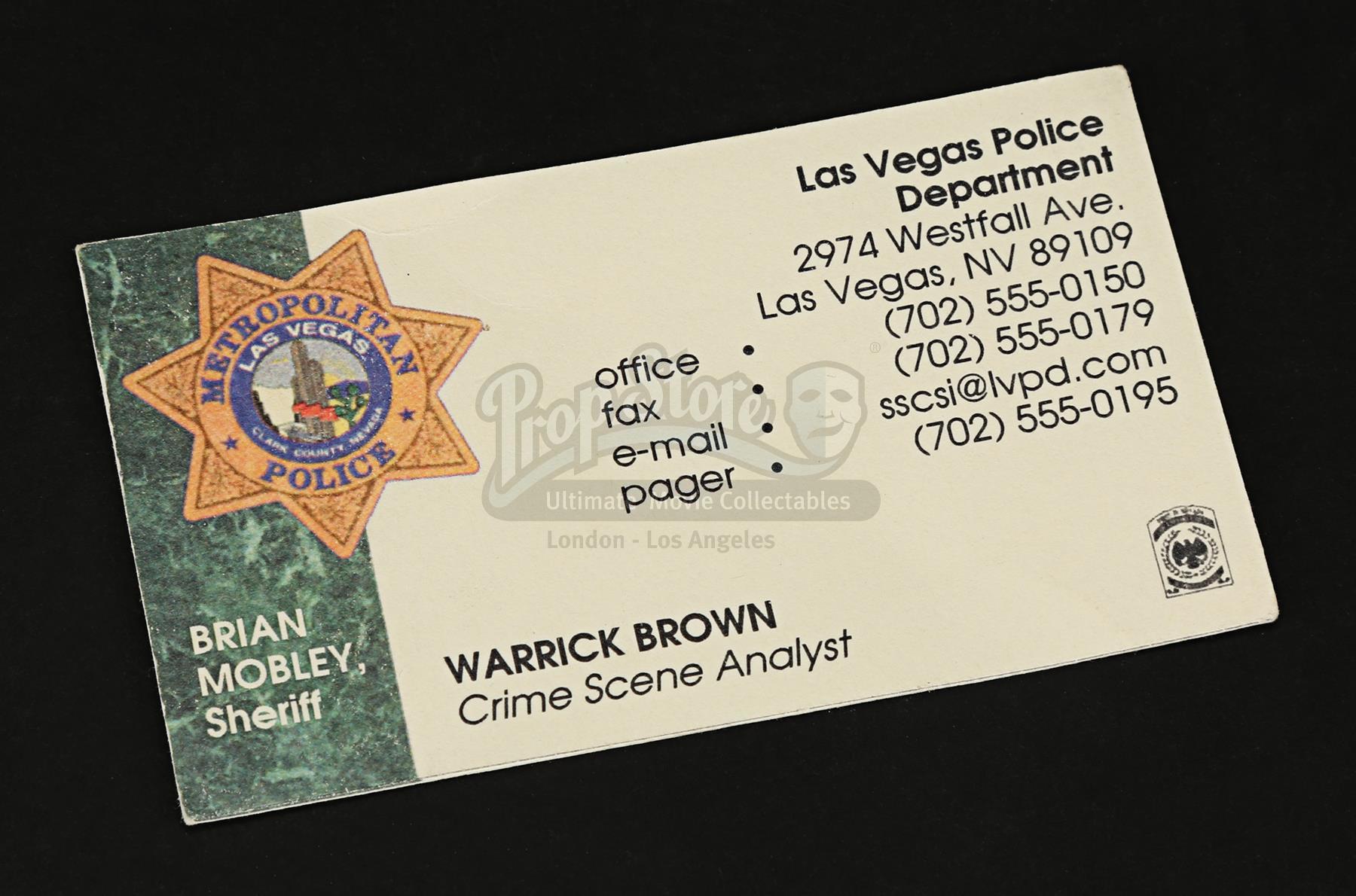 Csi crime scene investigation tv 2000 2015 warrick browns lot 56 reheart Images