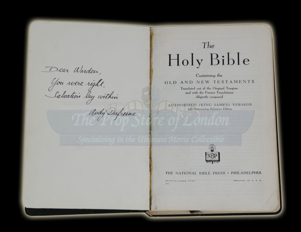 Andy Dufresnes Bible Prop Store Ultimate Movie