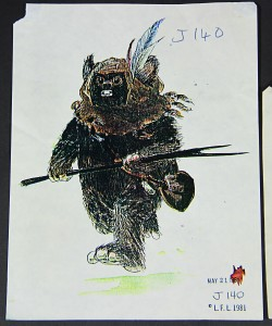 Star Wars Ep VI - Colour Ewok Production Design SheetA3