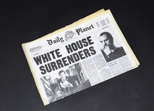 Superman 2 - White House Surrenders NewspaperA1
