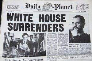 Superman 2 - White House Surrenders NewspaperB3