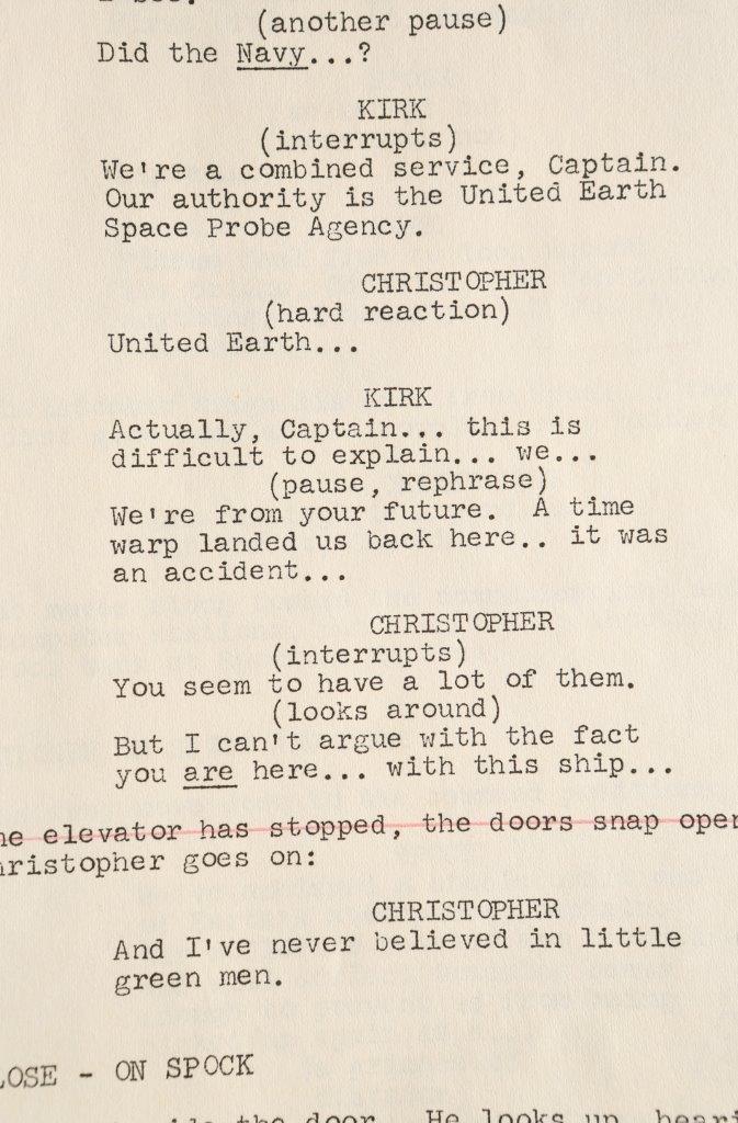 63344 Star Trek Original Series Director M OHerlithy Script Tomorrow is Yesterday_5